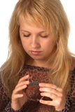 ρολόι κοριτσιών Στοκ φωτογραφίες με δικαίωμα ελεύθερης χρήσης