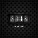 Ρολόι κτυπήματος καλής χρονιάς 2018 Στοκ Εικόνες