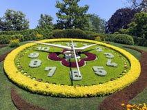 Ρολόι λουλουδιών της Γενεύης στοκ εικόνα με δικαίωμα ελεύθερης χρήσης