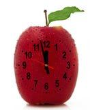 ρολόι μήλων Στοκ Εικόνες