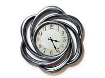 Ρολόι μορφής τέχνης ρολόι κύκλων στοκ εικόνες