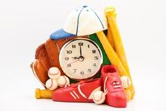 ρολόι μπέιζ-μπώλ Στοκ φωτογραφία με δικαίωμα ελεύθερης χρήσης