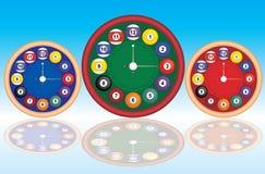ρολόι μπιλιάρδου Διανυσματική απεικόνιση