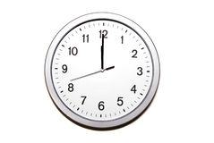 ρολόι ο δώδεκα Στοκ εικόνα με δικαίωμα ελεύθερης χρήσης
