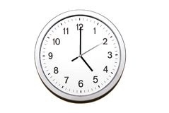 ρολόι πέντε ο Στοκ εικόνες με δικαίωμα ελεύθερης χρήσης