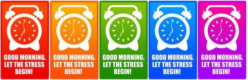 Ρολόι πρωινού Στοκ Εικόνες