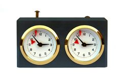 ρολόι σκακιού που απομ&omicron Στοκ Εικόνα