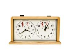 ρολόι σκακιού Στοκ εικόνα με δικαίωμα ελεύθερης χρήσης