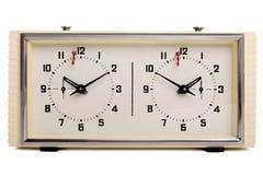 ρολόι σκακιού Στοκ εικόνες με δικαίωμα ελεύθερης χρήσης