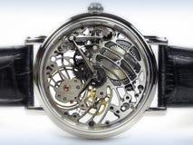 ρολόι σκελετών μετακίνησης deco τέχνης Στοκ Εικόνα