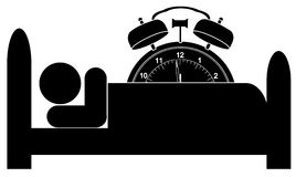 ρολόι σπορείων συναγερμώ Στοκ Εικόνες