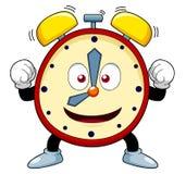 Ρολόι συναγερμών κινούμενων σχεδίων απεικόνιση αποθεμάτων