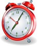 ρολόι συναγερμών που απομονώνεται στοκ εικόνα