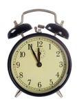 ρολόι συναγερμών 5 12 που απομονώνεται Στοκ Εικόνα