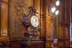 Ρολόι της βιβλιοθήκης συνεδρίων στο εθνικό συνέδριο της Αργεντινής - του Μπουένος Άιρες, Αργεντινή Στοκ Εικόνες