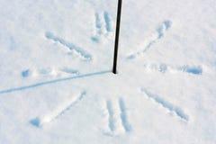 Ρολόι χιονιού Στοκ εικόνα με δικαίωμα ελεύθερης χρήσης