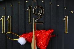 ρολόι Χριστουγέννων Στοκ φωτογραφία με δικαίωμα ελεύθερης χρήσης