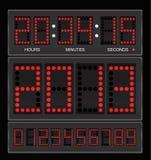 ρολόι ψηφιακό απεικόνιση αποθεμάτων