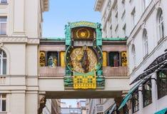 Ρολόι Ankeruhr σε Hoher Markt - τη Βιέννη Αυστρία Στοκ Φωτογραφίες