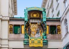 Ρολόι Ankeruhr σε Hoher Markt - τη Βιέννη Αυστρία Στοκ Εικόνα