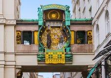 Ρολόι Ankeruhr σε Hoher Markt - τη Βιέννη Αυστρία Στοκ εικόνες με δικαίωμα ελεύθερης χρήσης