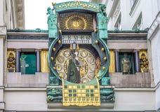 Ρολόι Ankeruhr στη Βιέννη Στοκ Εικόνες