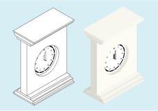 ρολόι isometric Στοκ Φωτογραφία