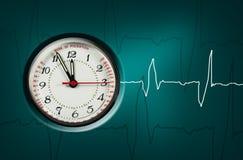 ρολόι puls Στοκ εικόνες με δικαίωμα ελεύθερης χρήσης