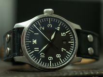 Ρολόι Stowa flieger με το λουρί δέρματος Στοκ φωτογραφίες με δικαίωμα ελεύθερης χρήσης