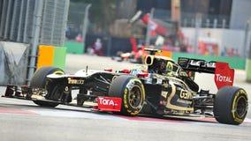 Ρομάν Grosjean που συναγωνίζεται F1 στα Grand Prix Σινγκαπούρης Στοκ φωτογραφίες με δικαίωμα ελεύθερης χρήσης