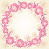 Ρομαντικά γραφικά ρόδινα και μπεζ λουλούδια διανυσματική απεικόνιση