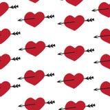 Ρομαντικά στοιχεία σχεδίων αγάπης καθορισμένα άνευ ραφής Στοκ φωτογραφία με δικαίωμα ελεύθερης χρήσης