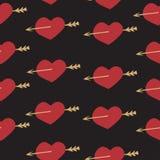 Ρομαντικά στοιχεία σχεδίων αγάπης καθορισμένα άνευ ραφής Στοκ εικόνες με δικαίωμα ελεύθερης χρήσης