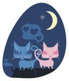 Ρομαντικές γάτες Στοκ φωτογραφία με δικαίωμα ελεύθερης χρήσης