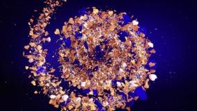 Ρομαντικές loopable κόκκινες καρδιές υποβάθρου ημέρας βαλεντίνων ` s, τέλειο υπόβαθρο για την κυκλική περιστρεφόμενη σπείρα εραστ φιλμ μικρού μήκους