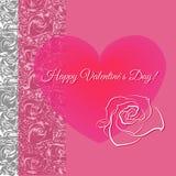 Ρομαντική έννοια Απεικόνιση με τη floral καρδιά Στοκ Εικόνες