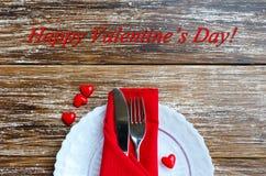 Ρομαντική έννοια γευμάτων αγάπης Στοκ Εικόνες