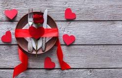 Ρομαντική έννοια γευμάτων Ημέρα βαλεντίνων ή υπόβαθρο προτάσεων Στοκ εικόνες με δικαίωμα ελεύθερης χρήσης