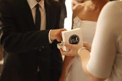 Ρομαντική αγάπη 16 γαμήλιων συμβόλων ζευγών γάμου Στοκ Εικόνες