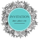 Ρομαντική βοτανική πρόσκληση Στοκ Εικόνες