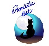 Ρομαντική γάτα διανυσματική απεικόνιση