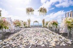 Ρομαντική γαμήλια τελετή στοκ εικόνα