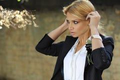 Ρομαντική επιχειρησιακή γυναίκα Στοκ Εικόνες