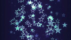 Ρομαντική λεπτή κίνηση αστεριών Χριστουγέννων διανυσματική απεικόνιση