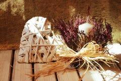 Ρομαντική διακόσμηση με το haert για το σπίτι Στοκ εικόνες με δικαίωμα ελεύθερης χρήσης