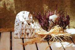 Ρομαντική διακόσμηση με το haert για το σπίτι Στοκ Εικόνες
