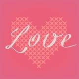 Ρομαντική διανυσματική ροζ κάρτα Στοκ εικόνα με δικαίωμα ελεύθερης χρήσης