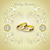 Ρομαντική κάρτα γαμήλιας πρόσκλησης Στοκ Φωτογραφία