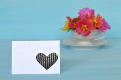 Ρομαντική κενή ευχετήρια κάρτα Στοκ Εικόνες
