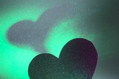 Ρομαντική μορφή καρδιών αγάπης Στοκ Εικόνα